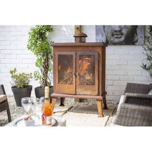 Volantis Retro Style Durable Steel Fireplace