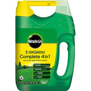 Miracle-Gro EverGreen Complete 4-in-1 Lawn Food, Weed & Moss Killer Spreader - 100m2