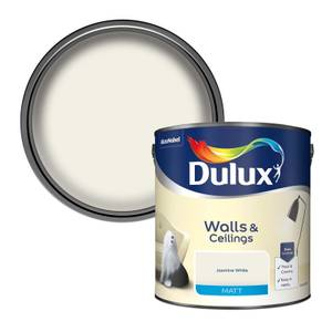 Dulux Jasmine White - Matt Emulsion Paint - 2.5L