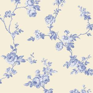 Grandeco  Floral Trail Royal Blue Wallpaper