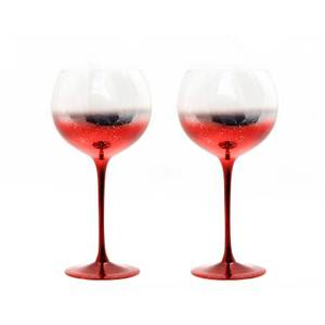 Gin Glasses - Set of 2 - Red