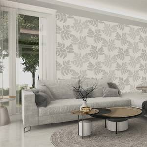 Belgravia Decor Amara Soft Silver Leaf Wallpaper
