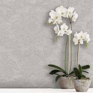 Belgravia Decor Tilly Silver Damask Wallpaper