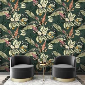 Belgravia Decor Paradise Garden Green Wallpaper