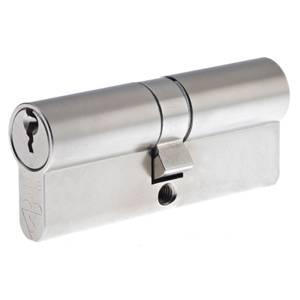 Yale Kitemarked Euro Double Cylinder - 30:10:30 (70mm) - Nickel Finish
