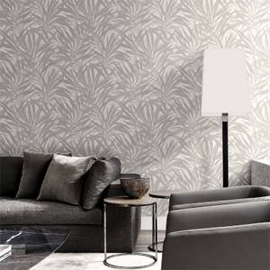 Belgravia Decor Palm Grey/Silver Wallpaper