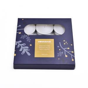 Gold Tea Lights - Winter Fire Spices