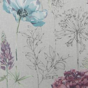 Fresco Floral Sketch Wallpaper Grey / Multi