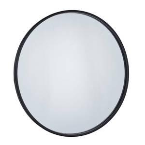 Cologne Black Round Framed Mirror