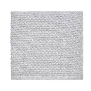 Peacock Blue Hotel Real Knit Throw - 130x150cm - White