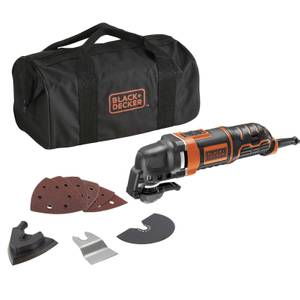 BLACK+DECKER 280W Corded Multi-Purpose Tool with 10 Accessories and Storage Bag (MT280BA-GB)