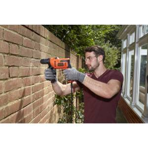 BLACK+DECKER 13mm 500W Corded Hammer Drill (BEH200-GB)