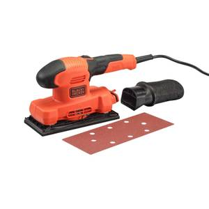 BLACK+DECKER Finishing 1/3 Sheet 150W Corded Sander (BEW220-GB)