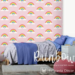 Belgravia Decor Rainbow Pink Wallpaper (supporting NHS charities)
