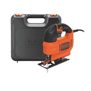 BLACK+DECKER Variable Speed 520W Corded Jigsaw with Blade and Kit Box (KS701EK-GB)