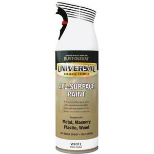 Rust-Oleum Universal Satin Spray Paint - White - 400ml