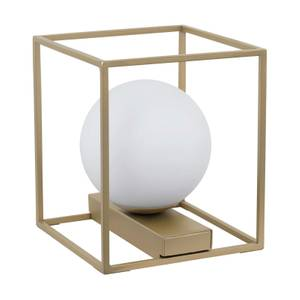 EGLO Vallaspra Stylish Champagne Caged Table Lamp