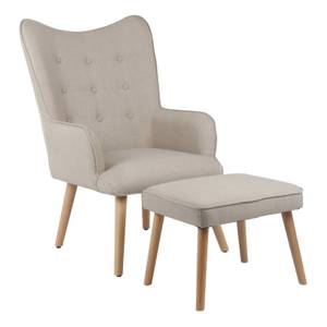Leon Chair and Footstool - Natural