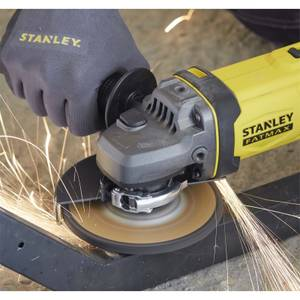 STANLEY FATMAX V20 18V Cordless Angle Grinder with Kit Box (SFMCG400D1K-GB)