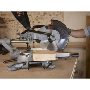 BLACK+DECKER 254MM 2100W Corded Sliding Compound Mitre Saw (BES710-GB)