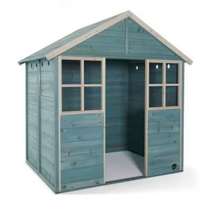 Plum Garden Hut Wooden Playhouse - Teal
