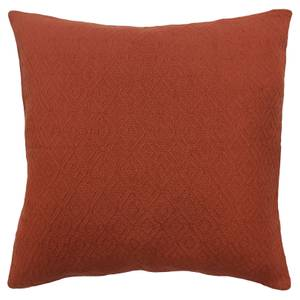 Cotton Diamond Cushion - Rust