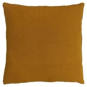 Cotton Diamond Cushion - Ochre