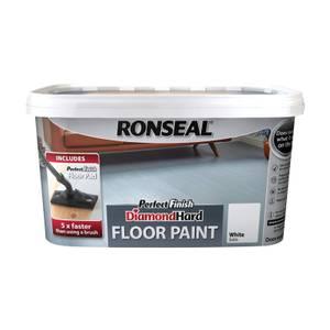 Ronseal White - Perfect Finish Diamond Hard Floor Paint - 2.5L