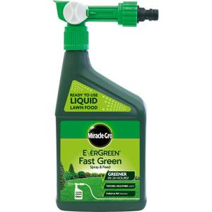 Miracle-Gro EverGreen Fast Green Spray & Feed Lawn Food - 100m2