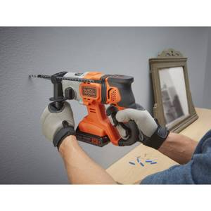 BLACK+DECKER 18V Cordless SDS Plus Hammer Drill with Kit Box (BCD900D1K-GB)
