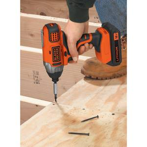 BLACK+DECKER 18V Cordless Impact Driver with Battery and Charger (BDCIM18C1-GB)