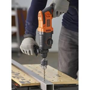 BLACK+DECKER 650W Corded SDS Plus Hammer Drill (BEHS01-GB)