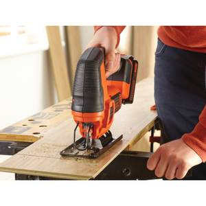BLACK+DECKER 18V Cordless Jigsaw with Blades (BDCJS18C13-GB)