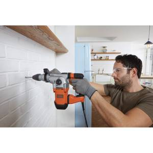 BLACK+DECKER 1250W Corded SDS Plus Hammer Drill with Kit Box (BEHS03K-GB)