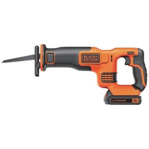 BLACK+DECKER 18V Cordless Reciprocating Saw with Blade (BDCR18C1-GB)