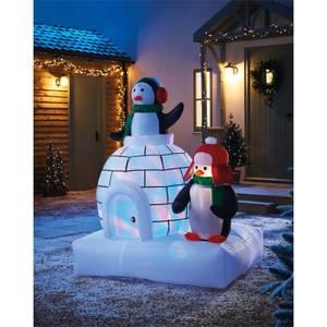 5ft Penguins and Igloo Christmas Inflatable