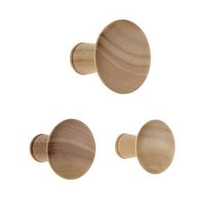 Wood Dots Hook Set - Oak Effect