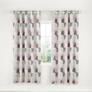 Helena Springfield Copenhagen Arken Lined Curtains - 168x183cm - Blush
