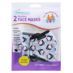 Dreambaby Reusable Penguin Face Masks (Child) - 2 Pack