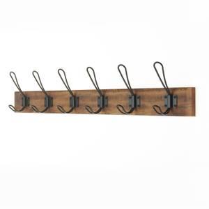 6 Black Wire Hook on Antique Board