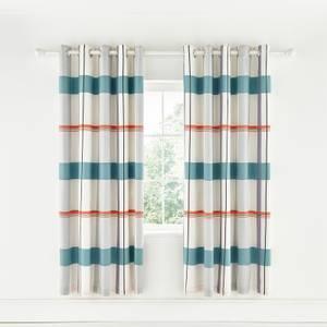 Helena Springfield Copenhagen Klint Lined Curtains - 66x72 - Coral