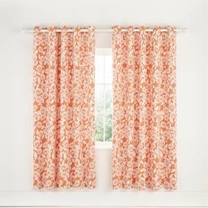 Helena Springfield Copenhagen Tivoli Lined Curtains - 66x72 - Coral