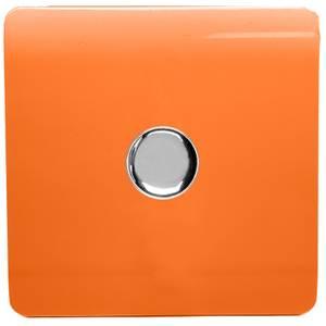 Trendi Switch 1 Gang 120 Watt LED Dimmer Switch in Orange