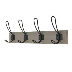 4 Black Wire Hook on Light Grey Ash Board