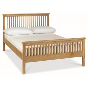 Atlanta Small Double Bed Frame - Oak