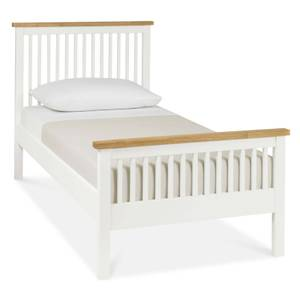 Atlanta Single Bed Frame - White & Oak