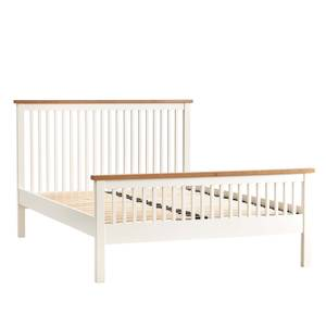 Atlanta Double Bed Frame - White & Oak