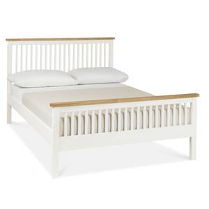 Atlanta Small Double Bed Frame - White & Oak