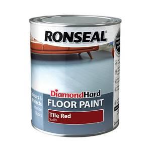 Ronseal Diamond Hard Tile Red - Floor Paint - 750ml