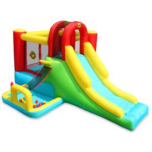 Happy Hop Inflatable With Slide Adventure Combo